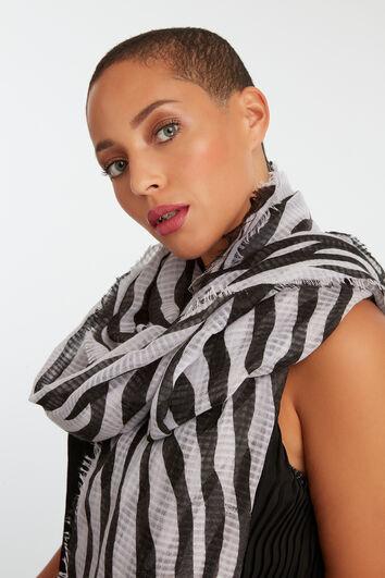Dunne sjaal met zebra print