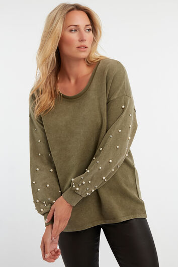 Washed sweater