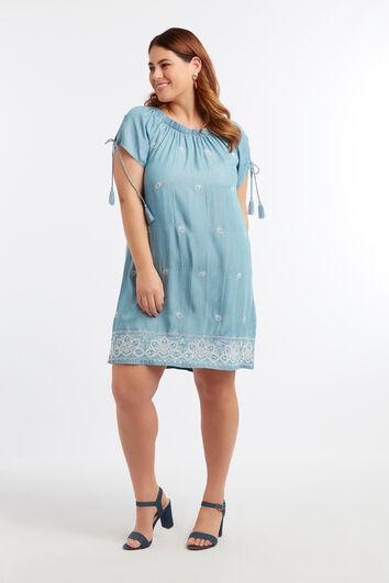 Tencel jurk met embroidery