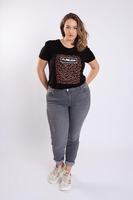 Jeans met distressed detail