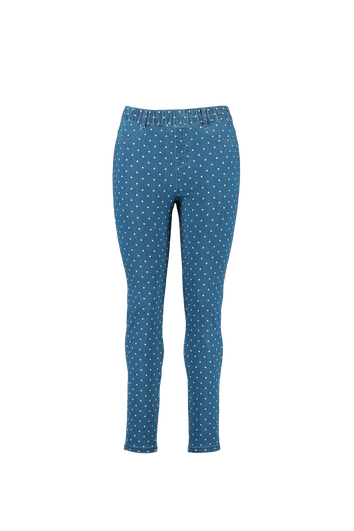 Slim fit tregging POPPY met stippenprint