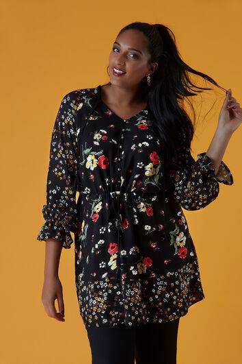 Lange blouse met bloemenprint