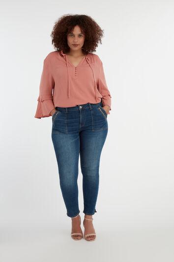 Jeans met ritsdetail