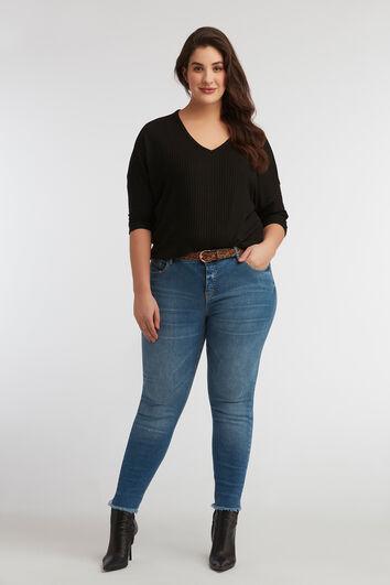 skinny jeans CHERRY met riem