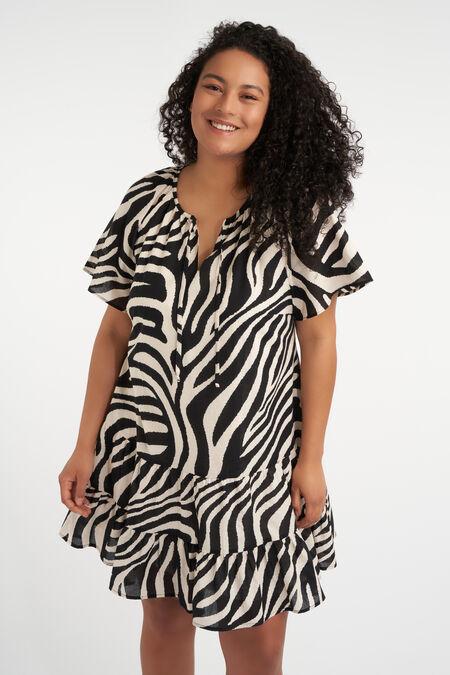 Korte A-lijn jurk met print