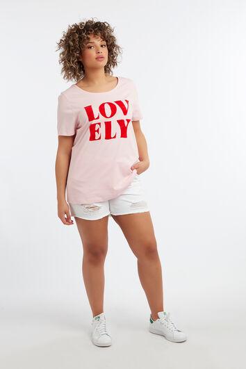 T-shirt met flock print