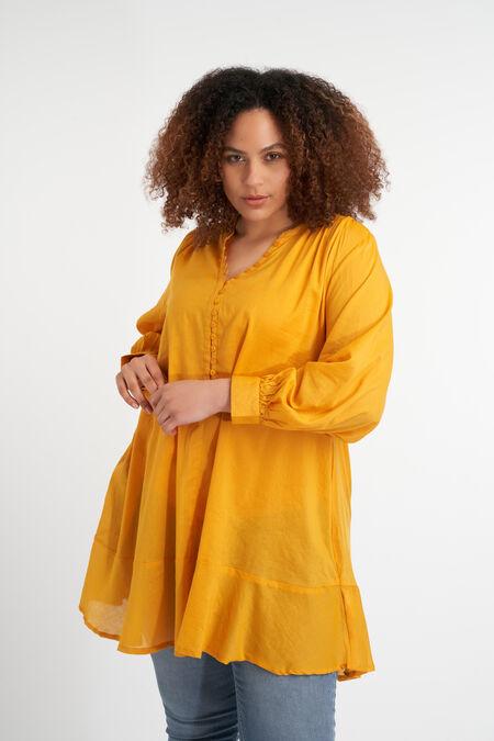 Lange blouse met knoopjes