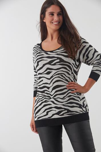 Trui met zebra print