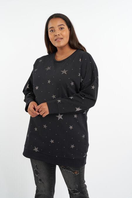 Sweater met sterrenprint