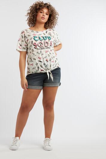 T-shirt met cartoon print