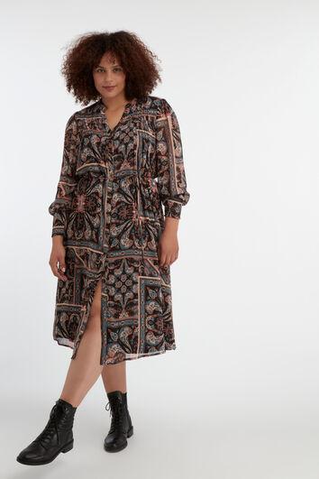 Midi jurk met paisley print