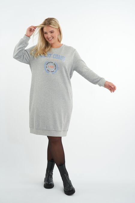 Sweater jurk met opdruk