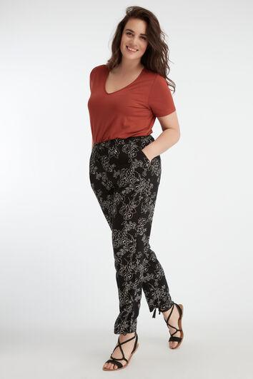Losvallende broek met print