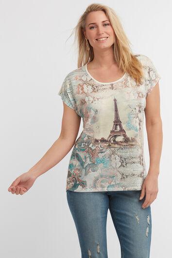 Panel print T-shirt