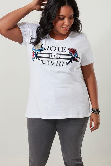 T-shirt met 3-d print