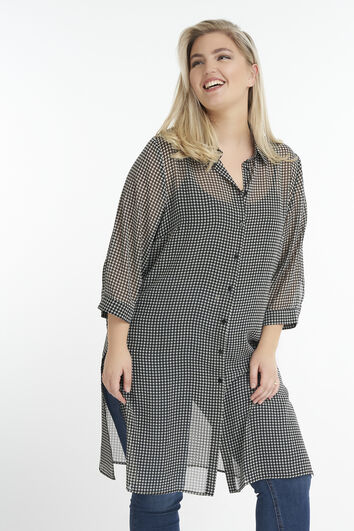 Transparante blouse