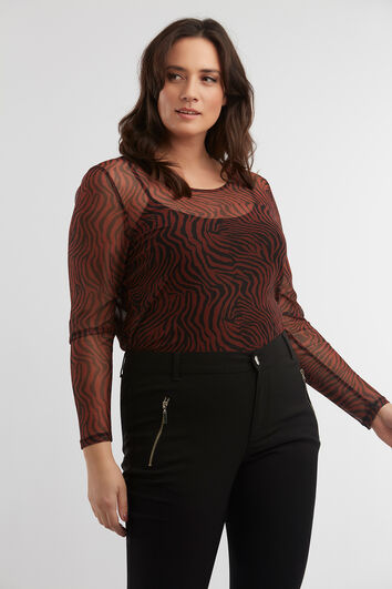 Top met animal print