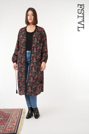 Kimono met paisley print
