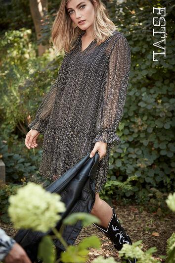 Semi-transparante jurk
