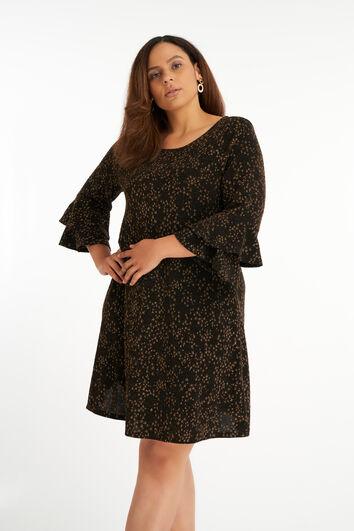 Lurex jurk met relief