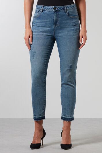 Super skinny jeans met slijtagedetails