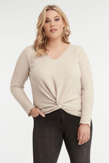 Shirt met knoopdetail