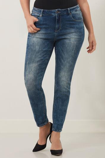 Skinny leg jeans met optische lift