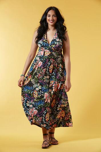 Lange jurk met halter