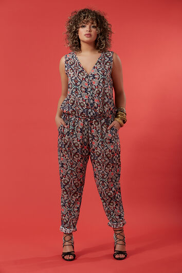 Jumpsuit in all-over print