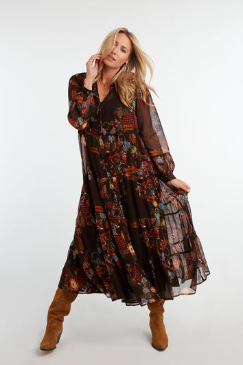 Semi-transparante lange jurk