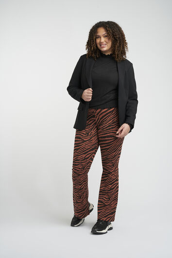 Flared legging met print