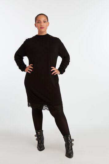 Gebreide jurk met kant