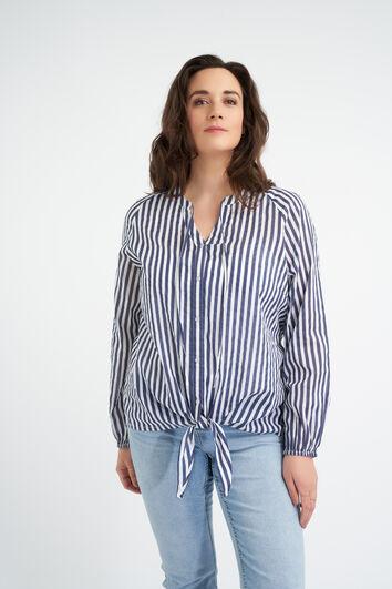 Katoenen blouse met knoopdetail