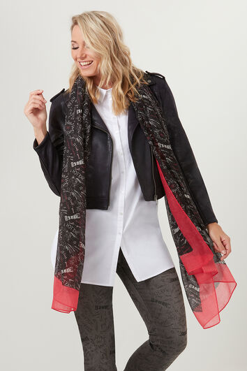 Sjaal met all-over print