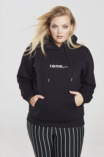 some,… hoodie met tekstopdruk