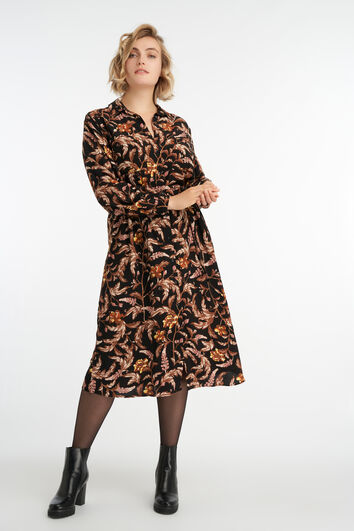 Midi jurk met print