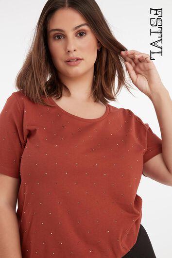 T-shirt met kleine studs