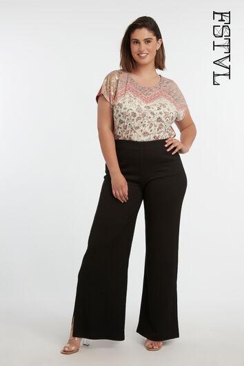 Wijdvallende broek