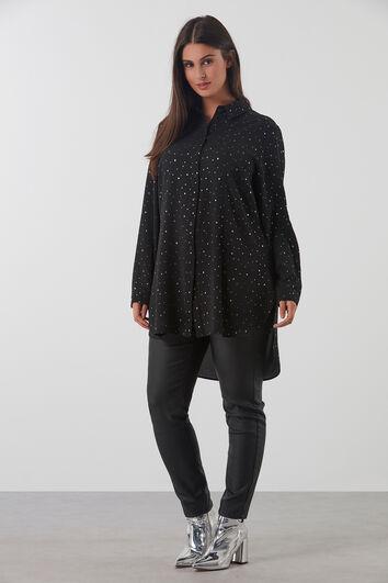 Lange blouse met stippen print