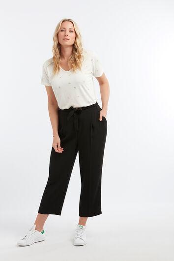 Wijdvallend pantalon met ceintuur