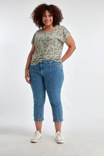 7/8 skinny jeans met studs en split