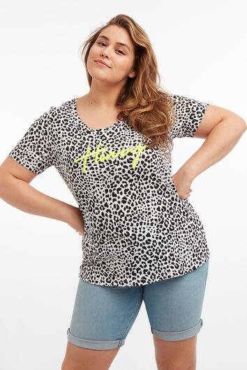 T-shirt met tekst en print