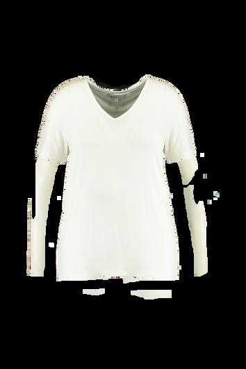 Effen T-shirt met V-hals