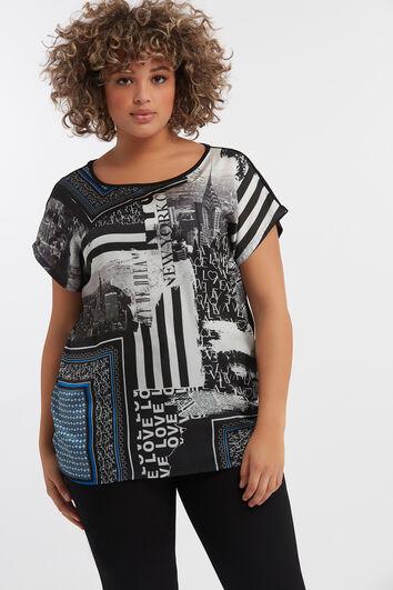 T-shirt met panel print