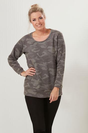 Sweater met all-over print