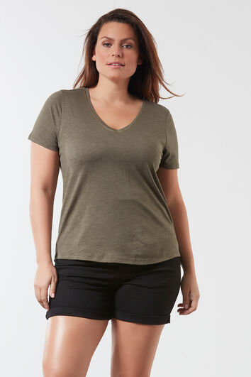 T-shirt in slub kwaliteit