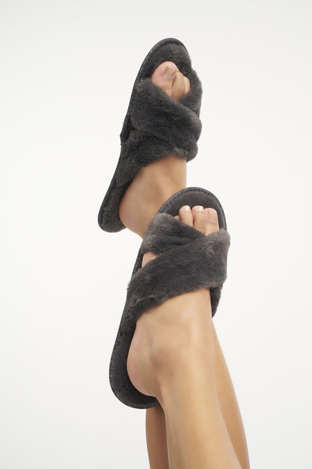Fluffy pantoffels