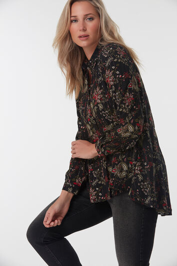 Blouse met all over paisleyprint