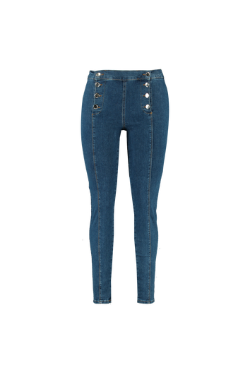 Slim fit jeans met knopen