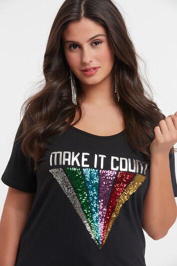 T-shirt met regenboogopdruk